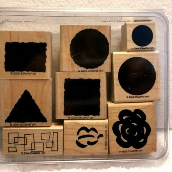 STAMPIN' UP! Lot of 13 Various Shapes Rubber Stamp